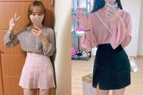 Sleeve, Collar, Pink, Formal wear, Dress shirt, Hat, Pattern, Waist, Fashion, Day dress,