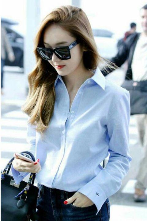 Clothing, Eyewear, Glasses, Vision care, Product, Dress shirt, Collar, Sleeve, Trousers, Denim,