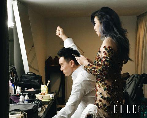 Black hair, Flash photography, Curtain, Fashion design, Makeover, Model,