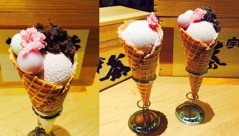 Food, Cuisine, Ice cream, Dessert, Ice cream cone, Ingredient, Frozen dessert, Cone, Sweetness, Dairy,