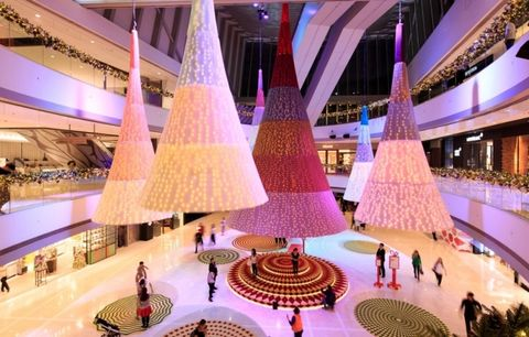 Lighting, Interior design, Interior design, Light fixture, Hall, Decoration, Lobby, Tourist attraction, Plaza, Column,