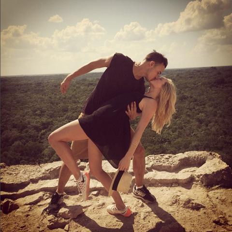 Photograph, Human leg, People in nature, Summer, Dress, Interaction, Love, Romance, Vacation, Kiss,