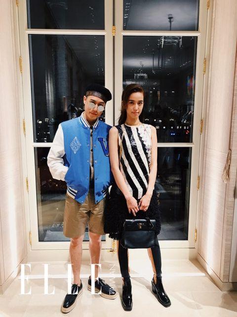 Fashion, Snapshot, Dress shirt, Footwear, Shoulder, Collar, Fashion design, Shorts, Shoe, Fashion accessory,