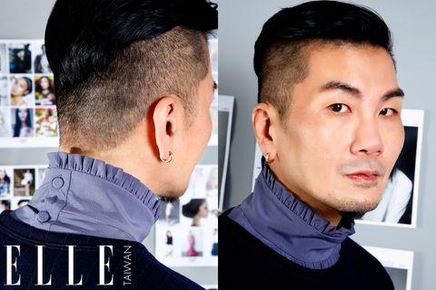 Head, Ear, Hairstyle, Forehead, Eyebrow, Style, Crew cut, Black hair, Fashion, Temple,