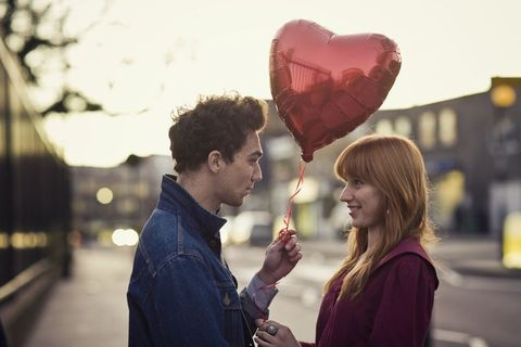Red, Happy, Heart, Organ, Holiday, Love, Carmine, Maroon, Street fashion, Conversation,