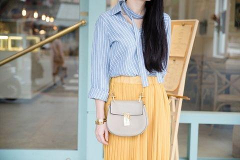 Product, Brown, Dress shirt, Sleeve, Collar, Shoulder, Shirt, White, Bag, Style,