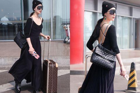 Clothing, Human body, Shoulder, Outerwear, Style, Street fashion, Bag, Fashion accessory, Formal wear, Dress,