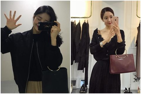 Hand, Style, Bag, Beauty, Fashion, Black hair, Black, Luggage and bags, Shoulder bag, Leather,