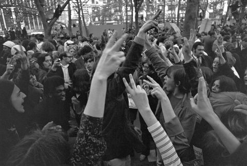 Crowd, People, Hand, Mammal, Audience, Monochrome, Celebrating, Cheering, Public event, Fan,
