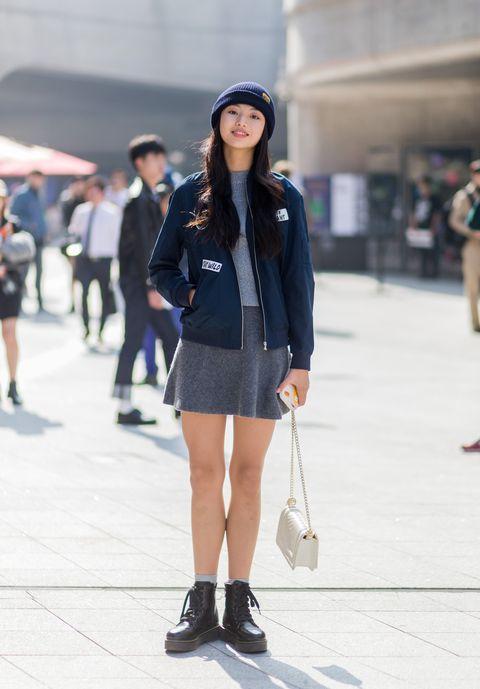 Clothing, Footwear, Leg, Brown, Sleeve, Human leg, Joint, Outerwear, White, Street,