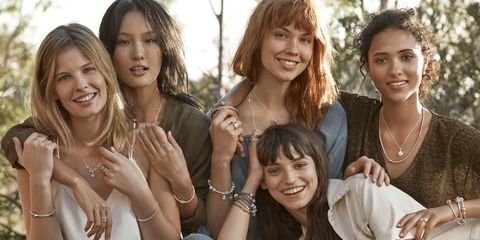 Arm, Smile, People, Sitting, Social group, Jewellery, Photograph, Hand, Fashion accessory, Happy,