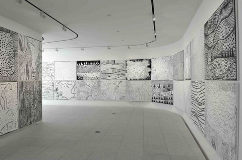White, Wall, Black-and-white, Architecture, Building, Line, Design, Room, Art, Interior design,