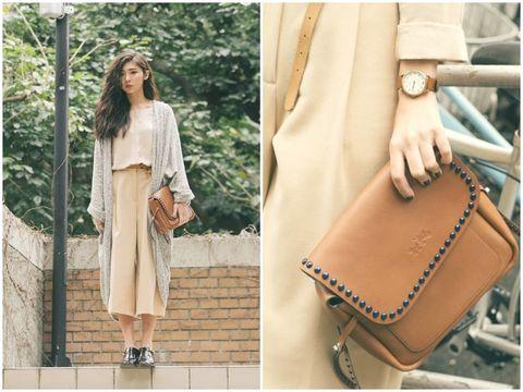 Clothing, Brown, Textile, Fashion accessory, Style, Bag, Street fashion, Khaki, Tan, Fashion,