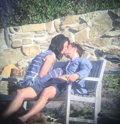 Sitting, Dress, Interaction, Comfort, Honeymoon, Romance, Outdoor furniture, Love, Lap, Kiss,