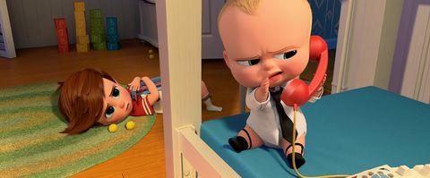 Animation, Plastic, Toy, Baby toys, Cabinetry, Audio accessory, Box, Animated cartoon, Shelf,