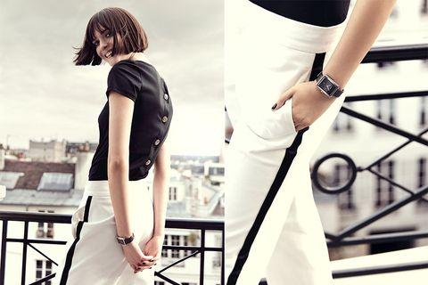 Arm, Shoulder, White, Style, Wrist, Fashion, Black, Waist, Street fashion, Watch,