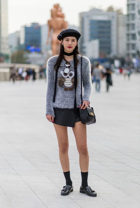 Clothing, Sleeve, Street, Human leg, Outerwear, Street fashion, Style, Knee, Fashion accessory, Pattern,