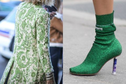 Green, Joint, Teal, Fashion, Street fashion, Sock, Turquoise, Ankle,