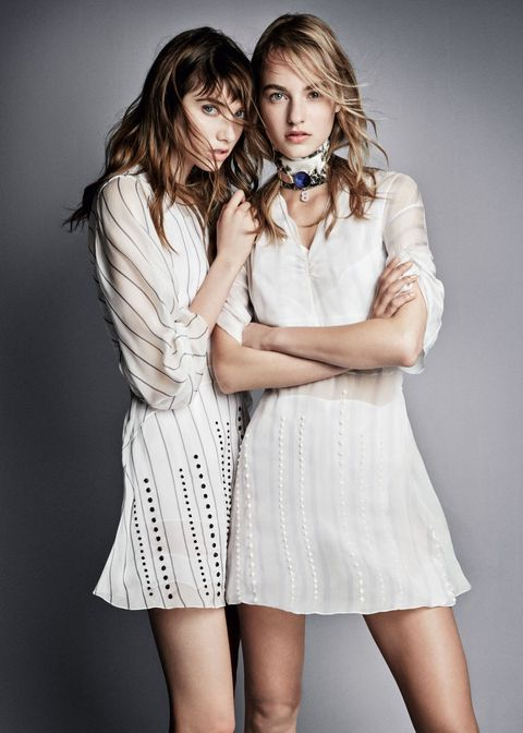 Sleeve, Shoulder, Dress, One-piece garment, Cocktail dress, Day dress, Fashion, Beauty, Long hair, Eyelash,