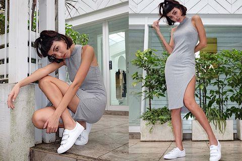 Leg, Shoulder, Human leg, Joint, Dress, Headgear, Knee, Beauty, Muscle, Thigh,