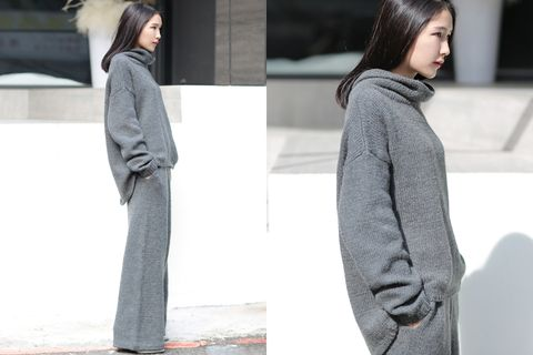 Clothing, Sleeve, Human body, Shoulder, Winter, Textile, Joint, Outerwear, Style, Street fashion,