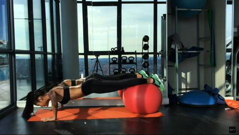 Arm, Human body, Human leg, Shoulder, Room, Physical fitness, Exercise, Elbow, Wrist, Chest,