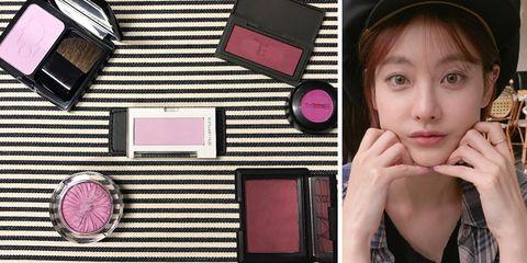 Lip, Eyebrow, Eyelash, Pink, Magenta, Beauty, Cosmetics, Eye shadow, Bangs, Selfie,