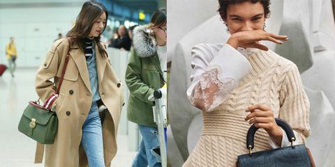 Clothing, Street fashion, Fashion, Bag, Coat, Shoulder, Outerwear, Handbag, Jeans, Tote bag,