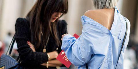 Human body, Glove, Street fashion, Back, Belt, Long hair, Brown hair, Safety glove, Contact sport, Costume,