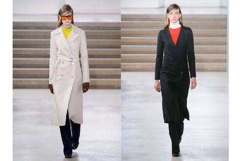 Clothing, Sleeve, Collar, Textile, Outerwear, Standing, Formal wear, Style, Fashion model, Coat,