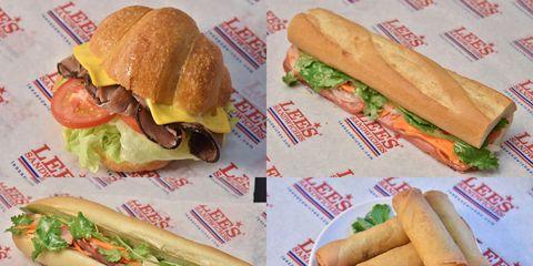 Food, Sandwich, Nem rán, Finger food, Nem, Ingredient, Meal, Breakfast, Bun, Fast food,