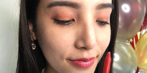Lip, Face, Eyebrow, Skin, Cheek, Nose, Beauty, Lipstick, Lip gloss, Head,