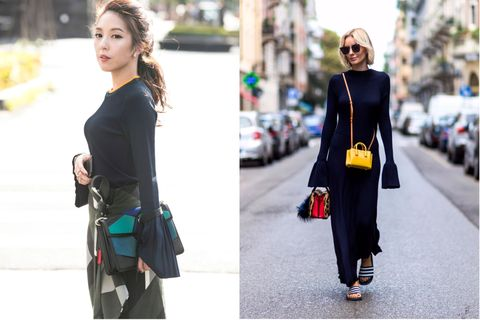 Clothing, Shoulder, Textile, Photograph, Joint, Bag, Outerwear, Street fashion, Style, Sunglasses,