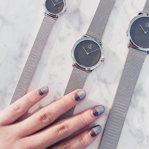 Finger, Product, Watch, Nail, Metal, Nail care, Analog watch, Watch accessory, Fashion, Nail polish,