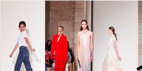 Fashion model, Fashion, White, Clothing, Fashion design, Fashion show, Runway, Dress, Event, Formal wear,