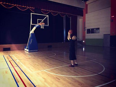 Basketball court, Sport venue, Basketball hoop, Basketball, Basketball moves, Basketball player, Talent show, Basketball, Field house,