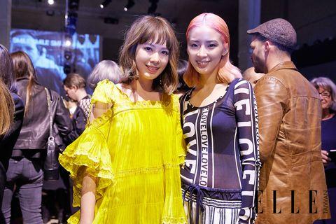 Yellow, Fashion, Event, Fashion design, Performance, Costume, Model,