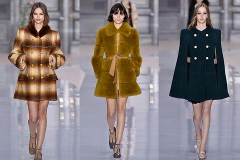 Fashion model, Fashion, Clothing, Fashion show, Overcoat, Fur, Outerwear, Haute couture, Coat, Runway,