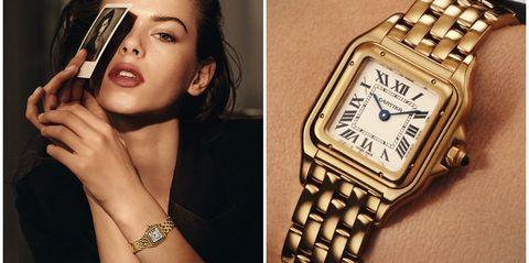 Watch, Analog watch, Wrist, Watch accessory, Fashion, Beauty, Fashion accessory, Gold, Brand, Jewellery,