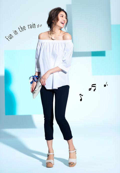 Clothing, Shoulder, White, Blue, Joint, Product, Waist, Fashion, Leg, Leggings,