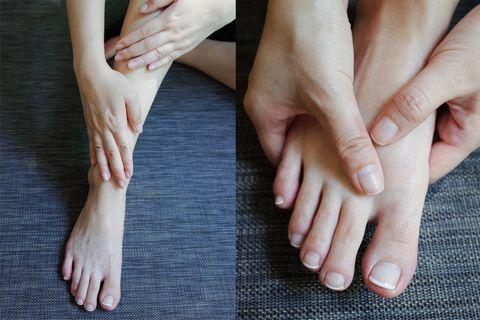 Finger, Skin, Joint, Nail, Organ, Wrist, Nail care, Toe, Close-up, Beige,