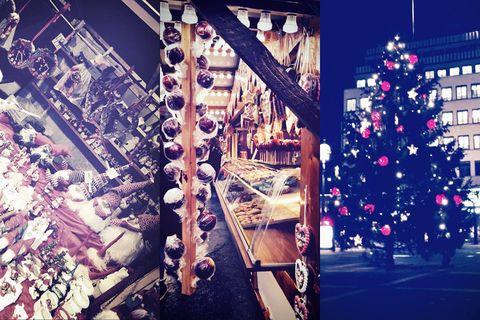 Christmas decoration, Holiday, Christmas tree, Urban area, Christmas ornament, Christmas eve, Residential area, Christmas, Interior design, Christmas lights,