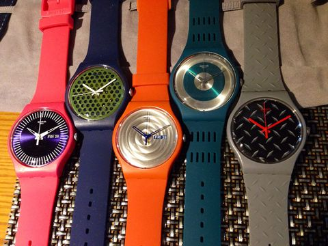 Watch, Red, Watch accessory, Orange, Font, Everyday carry, Analog watch, Steel, Metal, Strap,