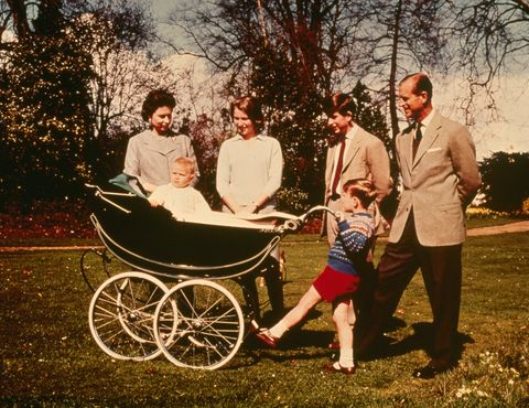 Tree, People in nature, Cart, Wagon, Baby Products, Lap, Family, Vintage clothing, Carriage, Love,