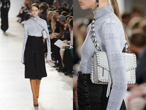 Sleeve, Outerwear, Style, Street fashion, Fashion, Fashion model, Waist, Fashion design, Blond, Bag,