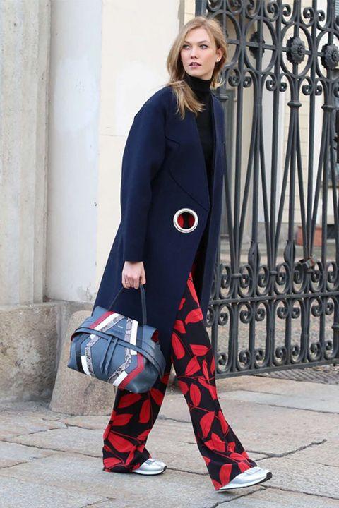 Clothing, Sleeve, Shoe, Coat, Outerwear, Collar, Bag, Style, Street fashion, Pattern,