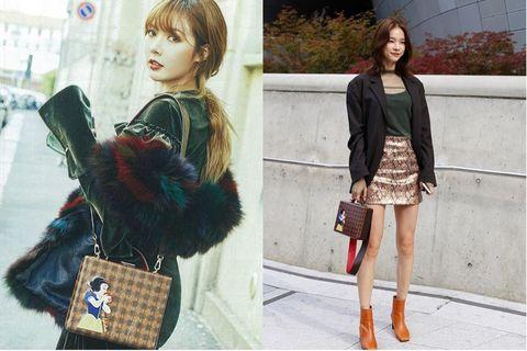 Clothing, Fashion, Fur, Street fashion, Brown, Footwear, Snapshot, Leg, Shoulder, Outerwear,