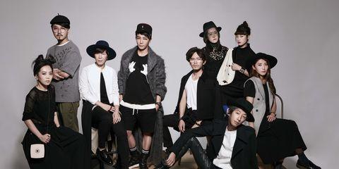 Footwear, Trousers, Hat, Social group, Outerwear, Coat, Style, T-shirt, Headgear, Fashion,
