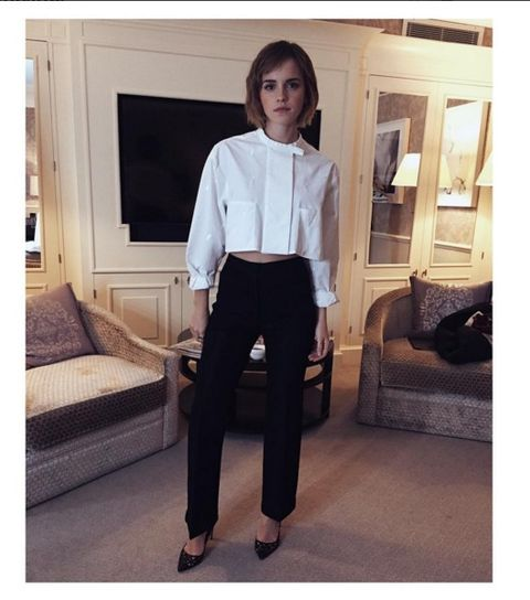 Clothing, Collar, Dress shirt, Sleeve, Shoulder, Room, Interior design, Style, Couch, Waist,