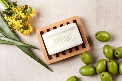 Soap, Rectangle, Fruit, Plant, Olive, Food, Vegan nutrition, Cutting board, Vegetarian food, Plate,